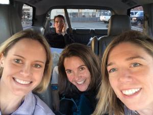Girl-Selfie with AJW taking care of business in the back seat of the Party Van