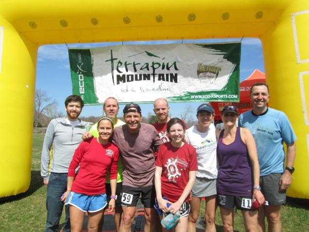 RVA Trail Runners blocking the finish line :-)