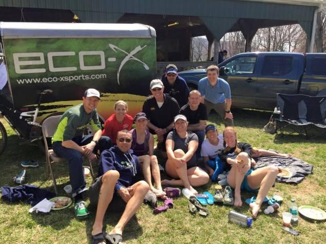 Crozet Running Ultra Team (CRUT) and friends post race
